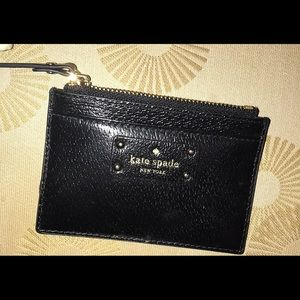 Kate Spade Pebbled Leather Card Wallet Coin Purse
